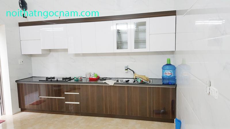 Mẫu tủ bếp inox 304 laminate