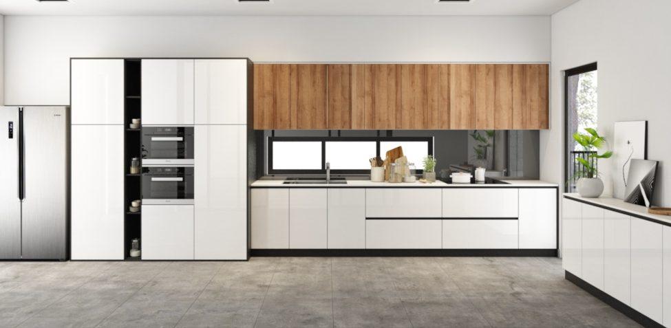 hình ảnh tủ bếp sử dụng gỗ công nghiệp MDF
