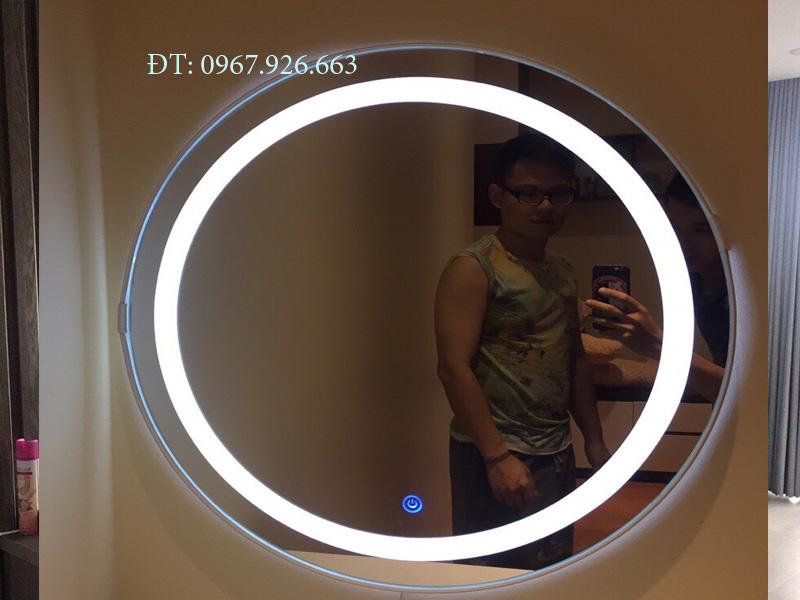 gương tròn viền ó đèn led