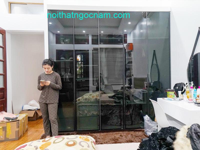 Xưởng chuyên sản xuất tủ áo cánh kính cao cấp ở Hà Nội