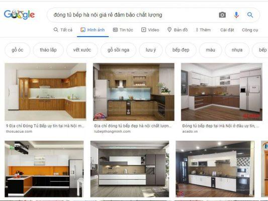 Thiết kế thi công đóng tủ bếp đẹp giá rẻ ở Hà Nội