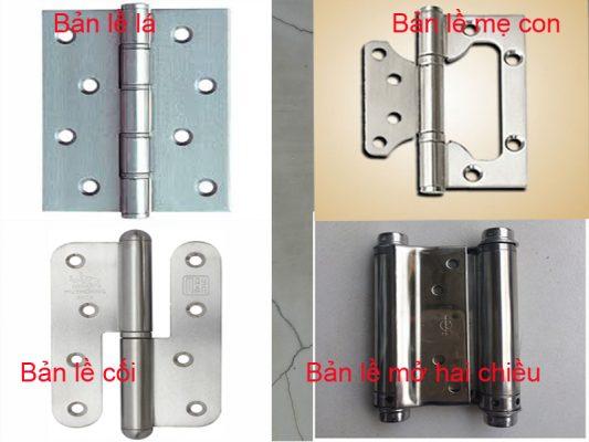 Các loại bản lề cửa nhựa composite