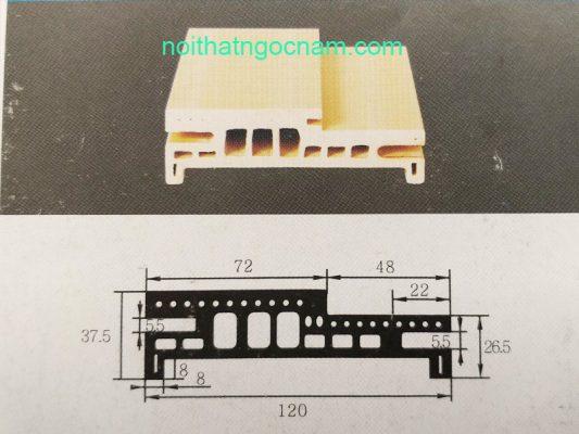 cấu tạo khuân cửa gỗ nhựa composite