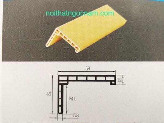 Cấu tạo nẹp khuân gỗ nhựa composite