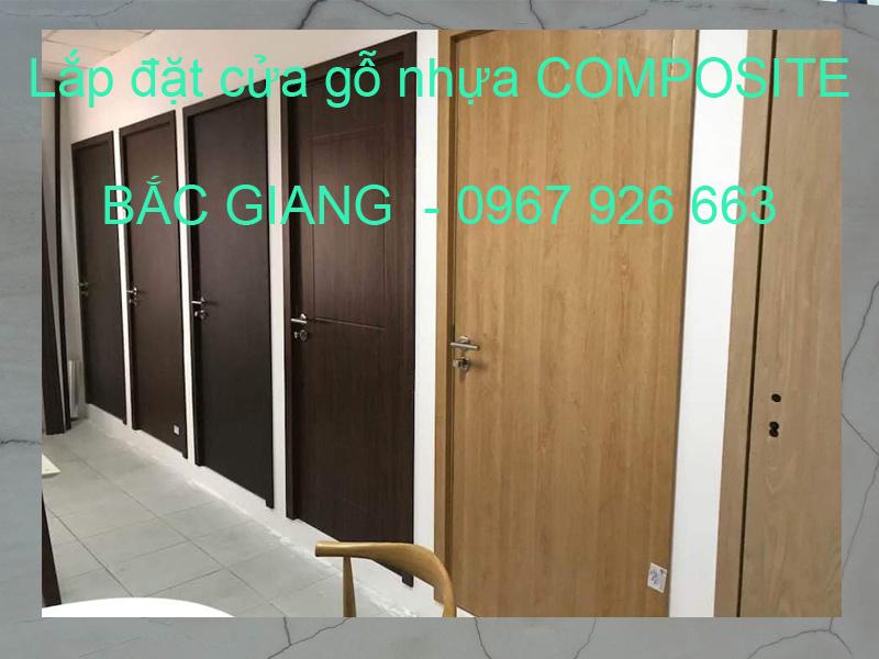 Xưởng sản xuất lắp đặt cửa gỗ nhựa composite Bắc Giang