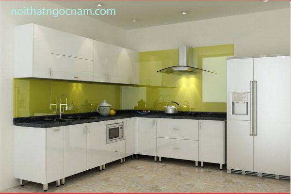 Mẫu tủ bếp inox cao cấptại Hà Nội có độ bền cao