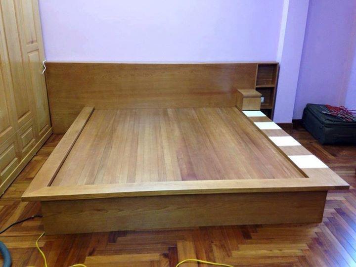 giường ngủ gỗ công nghiệp theo yêu cầu