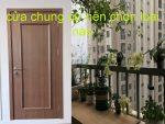 Cửa gỗ nhựa composite chung cư ở Hà Nội