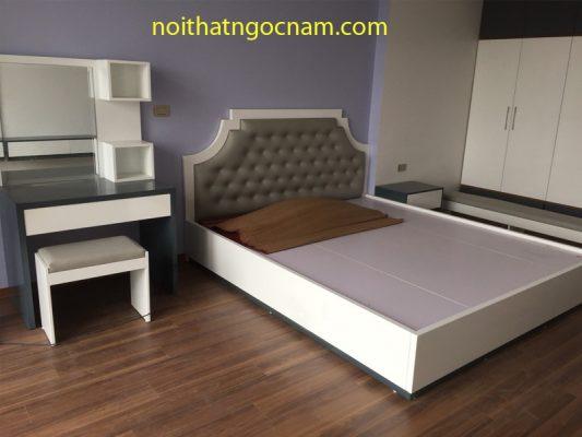 Giường ngủ gỗ công nghiệp giá rẻ