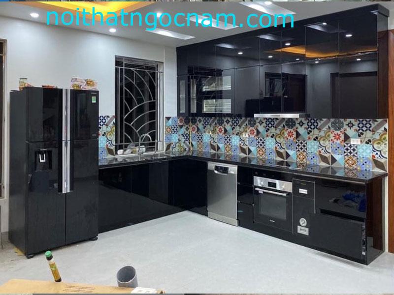 Mẫu tủ bếp inox 304 sơn tĩnh điện cao cấp