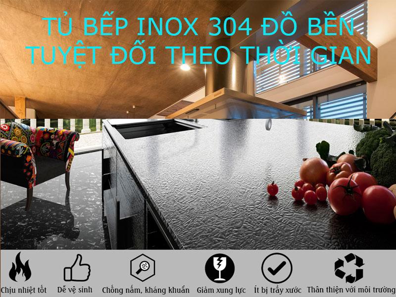 ưu điểm tủ bếp inox 304 cao cấp độ bền trên 20 năm mà bạn nên biết