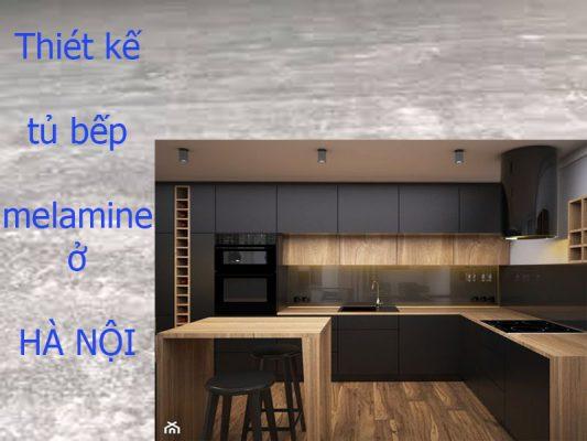chuyên thiết kế tủ bếp melamine ở hà nội