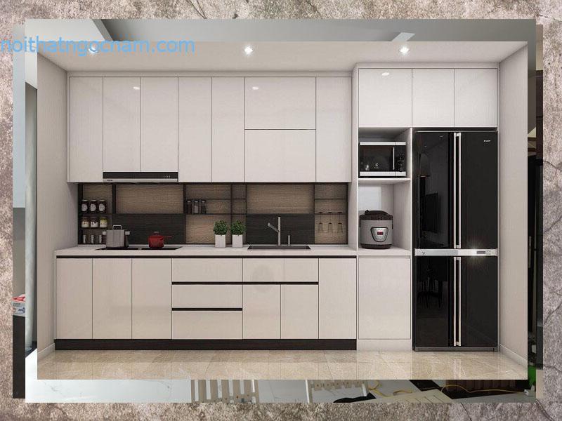 Tư vấn thiết kế đóng tủ bếp nhựa acrylic giá rẻ Hà Nội