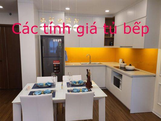 Cách tính giá thành 1 bộ tủ bếp hoàn thiện như thế nào đúng