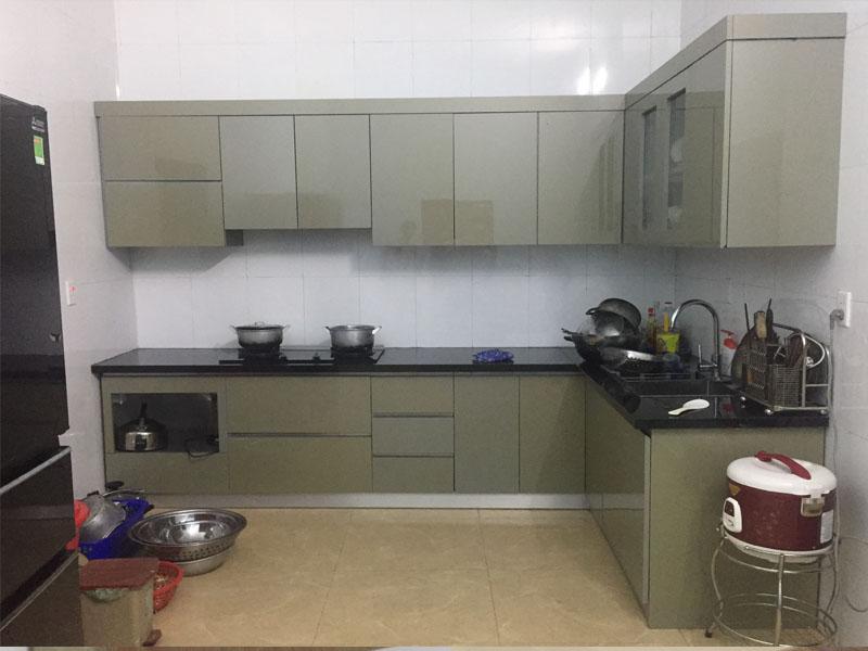 Thiết kế thi công tủ bếp Acrylic cao cấp hiện đại tại Việt Trì