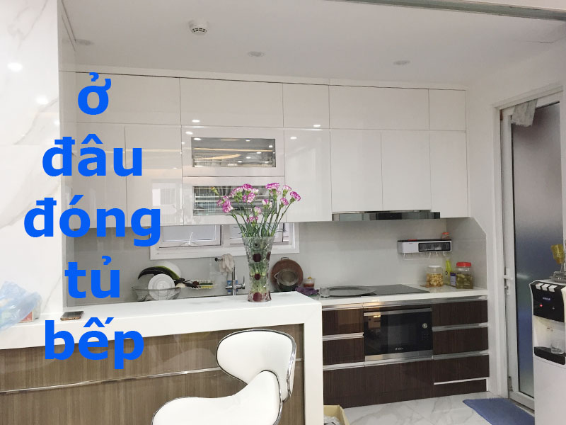 Thiết kế đóng tủ bếp Hà Đông đẹp giá rẻ