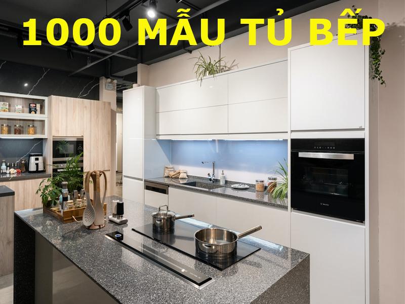 100 mẫu tủ bếp nhựa acrylic bóng gương cao cấp hiện đại
