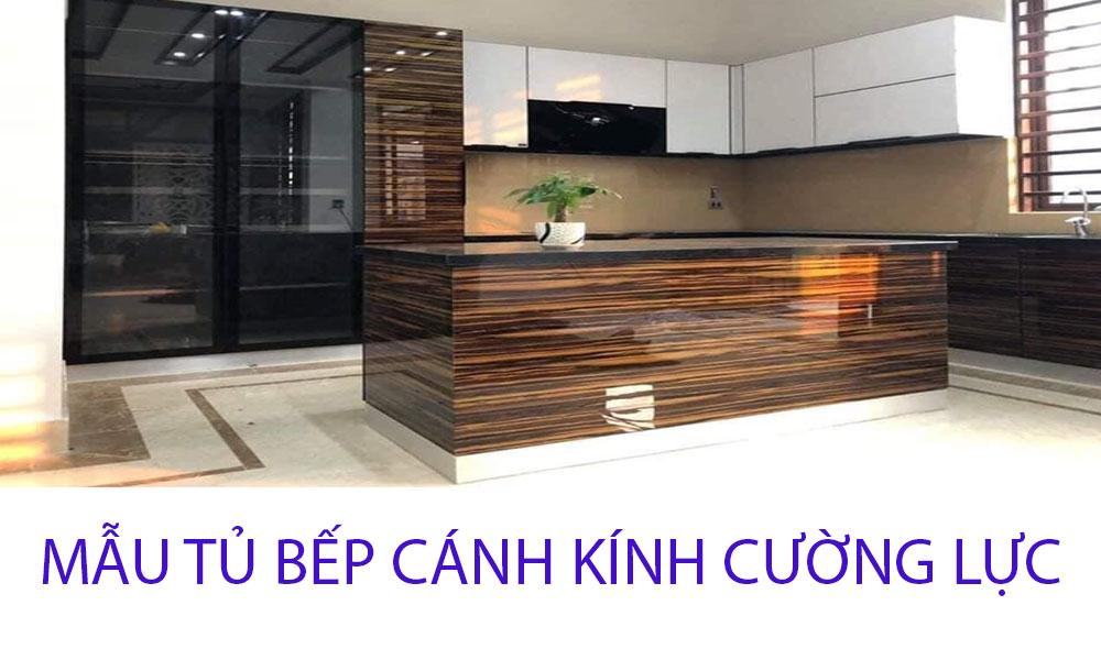 Thiết kế thi công mẫu tủ bếp inox kính cường lực Hà Nội