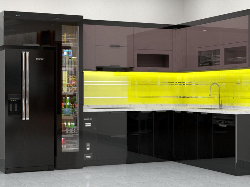 Báo giá mẫu tủ bếp Inox cánh kính cường lực đẹp nhất hiện này