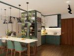 Địa chỉ thiết kế đóng tủ bếp tân cổ điển ở Hà Nội