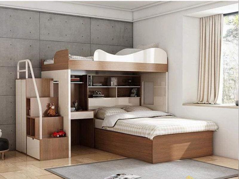 Mẫu giường tầng gỗ công nghiệp đẹp giá rẻ cho trẻ em