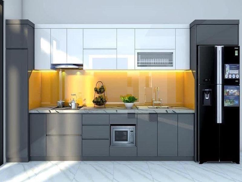 Mẫu tủ bếp acrylic cao cấp hiện đại