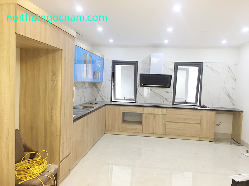 Tủ bếp nhựa Acrylic + Laminate chịu nước CN02