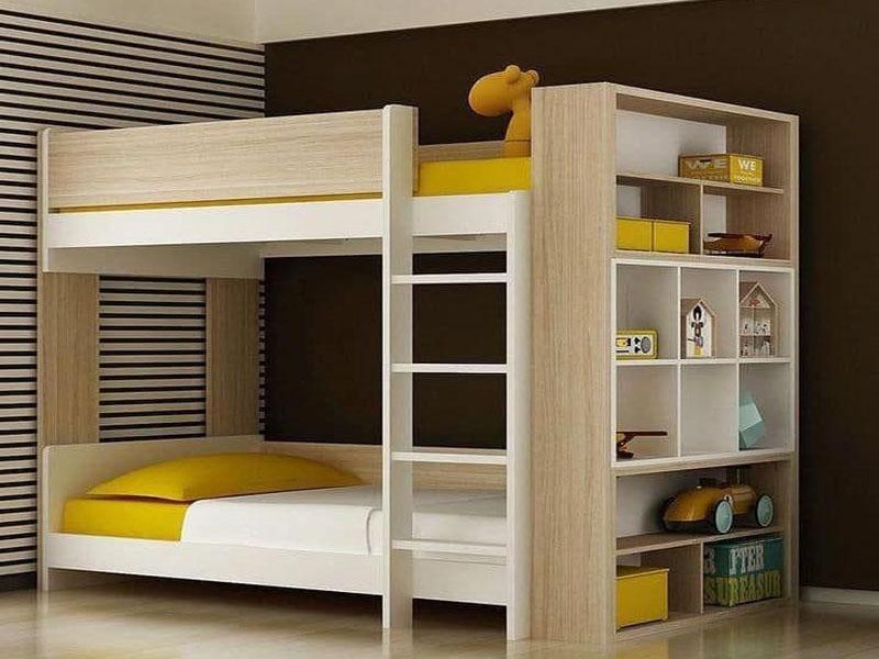 Thiết kế giường tầng gỗ công nghiệp hiện đại tận dụng tối đa không gian sử dụng