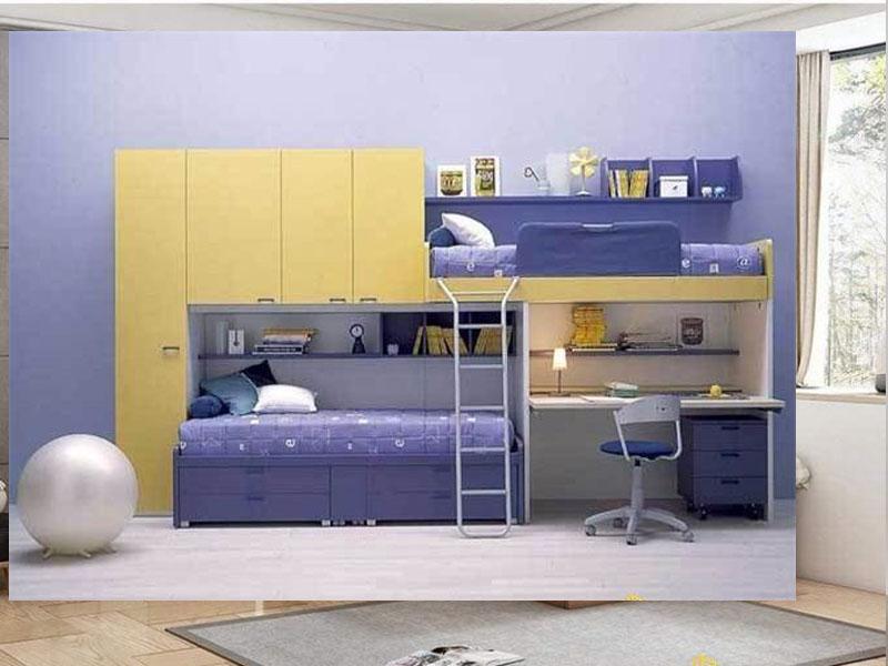Thiết kế giường tầng gỗ công nghiệp hiện đại