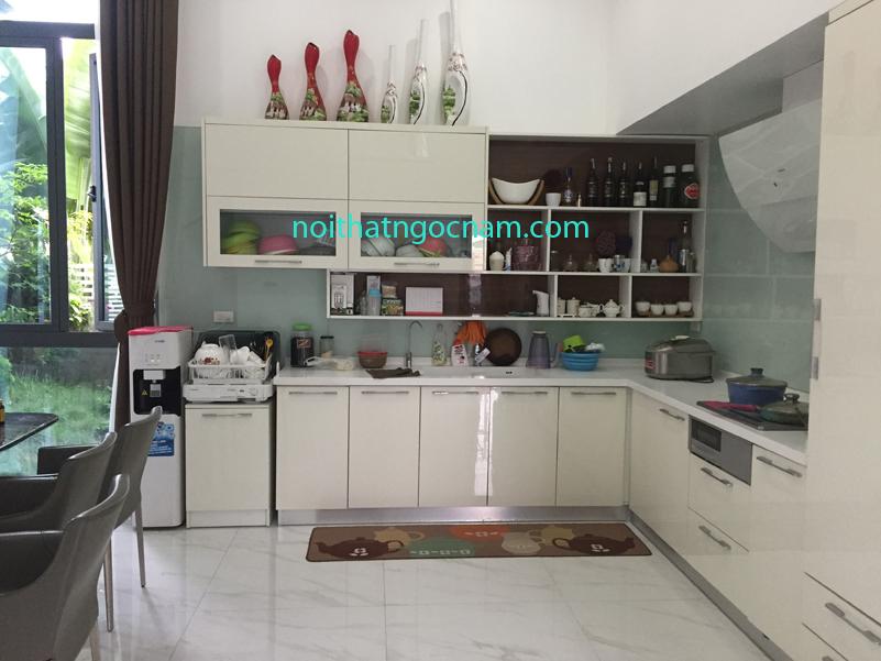 Tủ bếp nhựa Acrylic bóng gương cao cấp 02