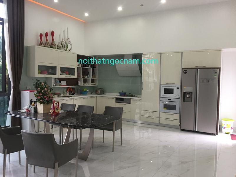 Tủ bếp nhựa Acrylic bóng gương cao cấp
